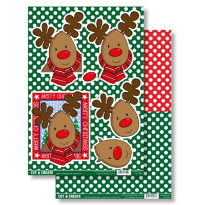 Craftstyle Products Cut & Create - Winter Wonderland - Rudolph
