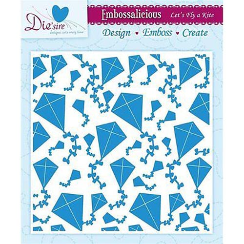 Die'sire Embossalicious 6 X 6 Embossing Folder - Let's Fly A Kite