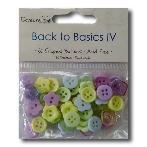 DOVECRAFT FORGET ME KNOT 50 SHAPED BUTTONS EMBELLISHMENTS FOR CARDS /& CRAFTS