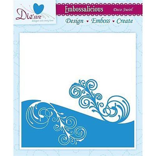 Die'sire Embossalicious 6 X 6 Embossing Folder - Deco Swirl