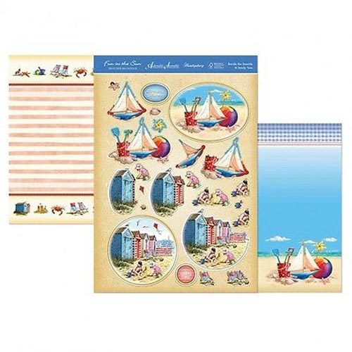 Hunkydory 3 X A4 Sheet Topper & Card Set - Beside The Seaside & Sandy Toes