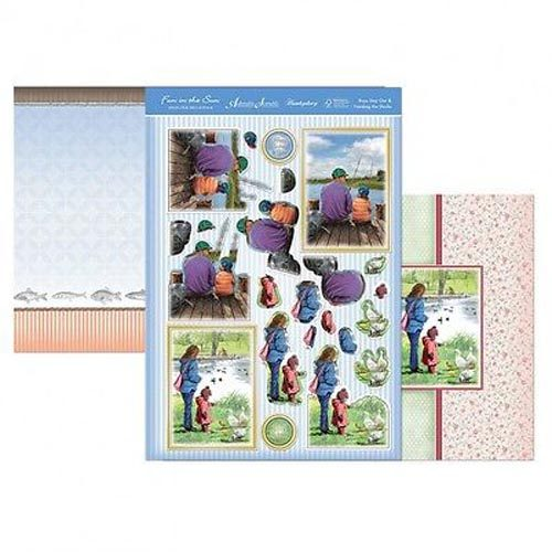 Hunkydory 3 X A4 Sheet Topper & Card Set - Boys Day Out & Feeding The Ducks