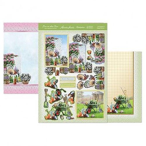 Hunkydory 3 X A4 Sheet Topper & Card Set - Evergreen & Home Grown