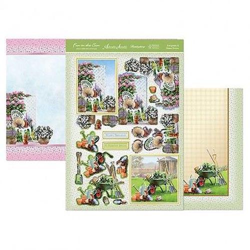 Hunkydory 3 X A4 Sheet Topper & Card Set - Evergreen & Home Grown