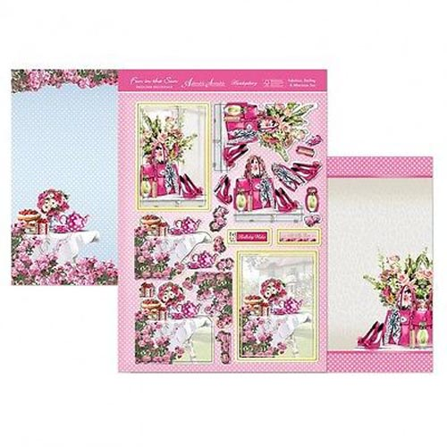 Hunkydory 3 X A4 Sheet Topper & Card Set - Fabulous Darling & Afternoon Tea