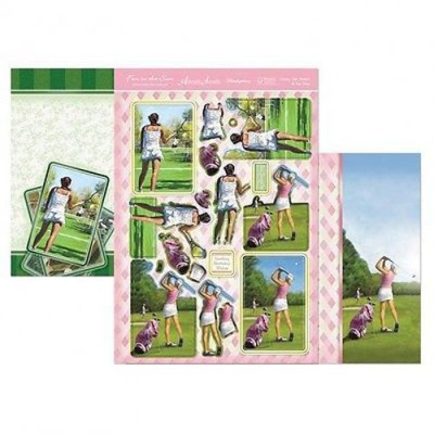 Hunkydory 3 X A4 Sheet Topper & Card Set - Game, Set, Match & Tee Time