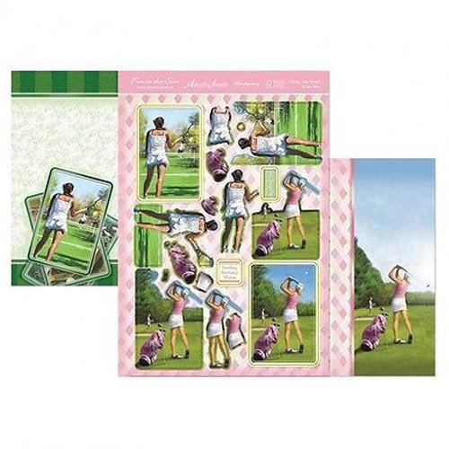 Hunkydory 3 X A4 Sheet Topper & Card Set - Game, Set, Match & Tee Time
