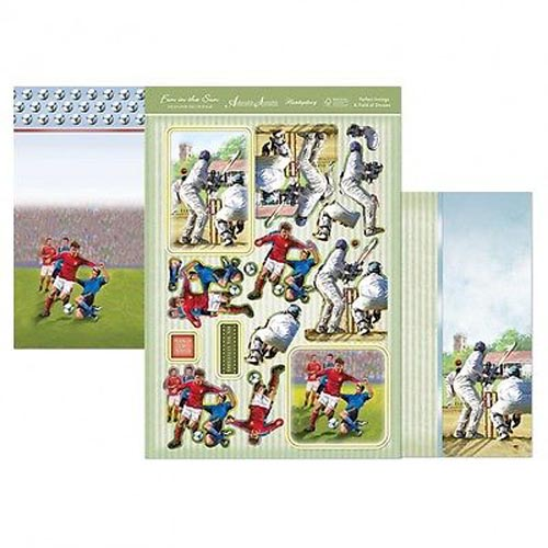 Hunkydory 3 X A4 Sheet Topper & Card Set - Perfect Innings & Field Of Dreams