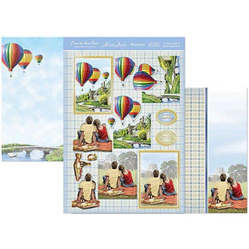 Hunkydory 3 X A4 Sheet Topper & Card Set - Country Flight & Picnic In The Park