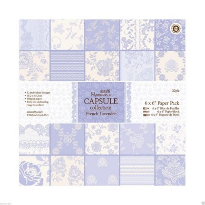 Papermania Capsule Collection 6x6 Paper Pack 32 Sheets - French Lavender