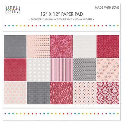 Dovecraft Simply Creative 12 x 12 Paper Pad - Made With Love