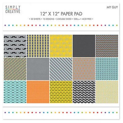 Dovecraft Simply Creative 12 x 12 Paper Pad - My Guy