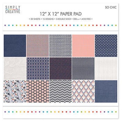 Dovecraft Simply Creative 12 x 12 Paper Pad - So Chic