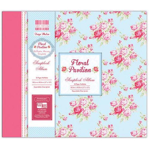 """First Edition Floral Pavilion Scrapbook Album 12 X 12"""""""