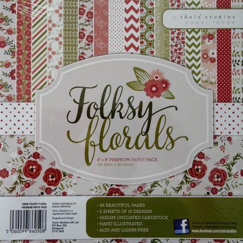 Tonic Studios - 8x8 Premium Paper Pack - Folksy Floral - 1050E