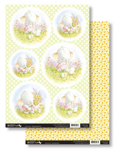Buzzcraft Ellis & Co Topper & Card Set - Spring Meadow