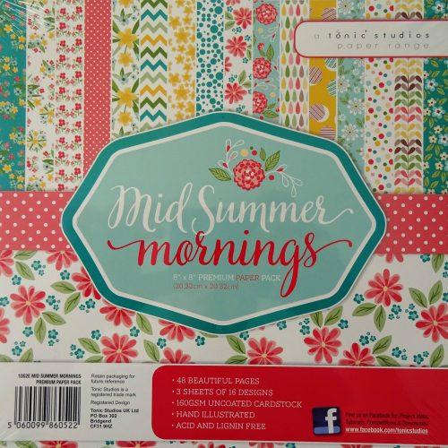 Tonic Studios - 8x8 Premium Paper Pack - Mid Summer Mornings - 1052E