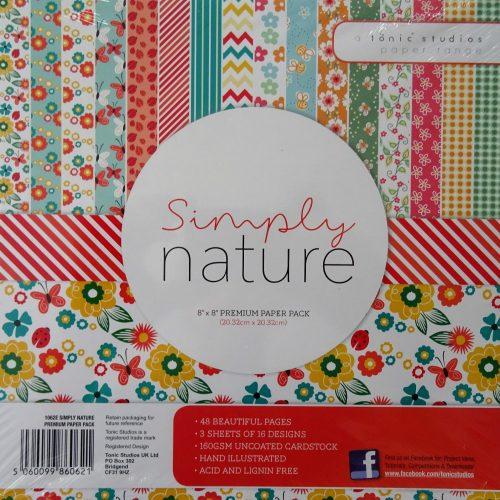 Tonic Studios - 8x8 Premium Paper Pack - Simply Nature - 1062E