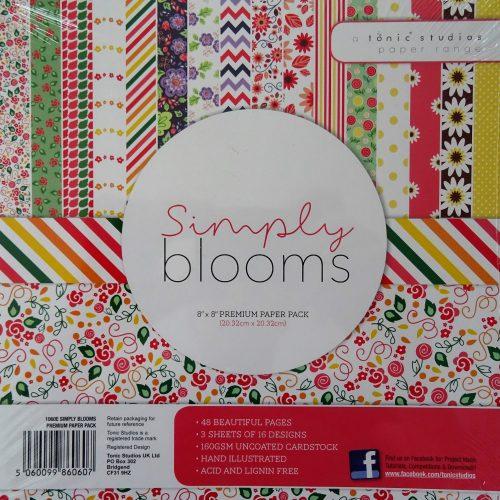 Tonic Studios - 8x8 Premium Paper Pack - Simply Blooms - 1060E