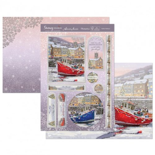 HUNKYDORY CHRISTMAS 3 SHEET TOPPER & CARD SET - FESTIVE HARBOUR