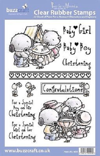 BUZZCRAFT Paws Fur a Moment A5 Stamp Christening