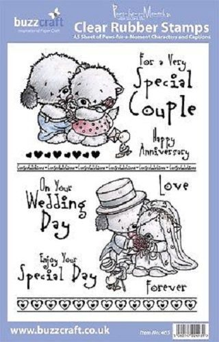 BUZZCRAFT Paws Fur a Moment A5 Stamp Wedding