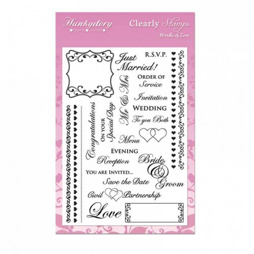 Hunkydory Crafts A5 Clearly Stamps Set Words of Love