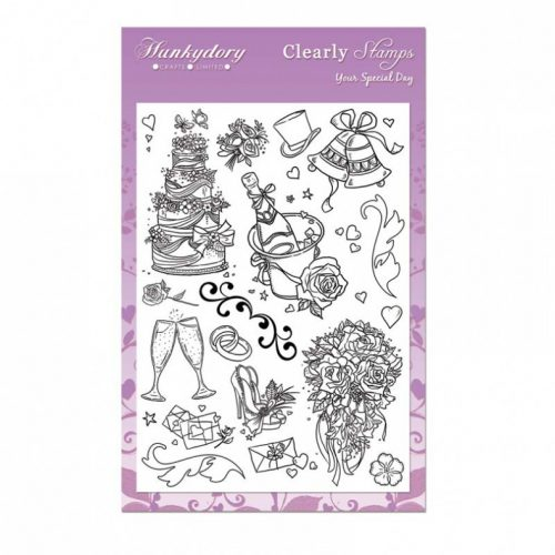Hunkydory Crafts A5 Clearly Stamps Set Your Special Day