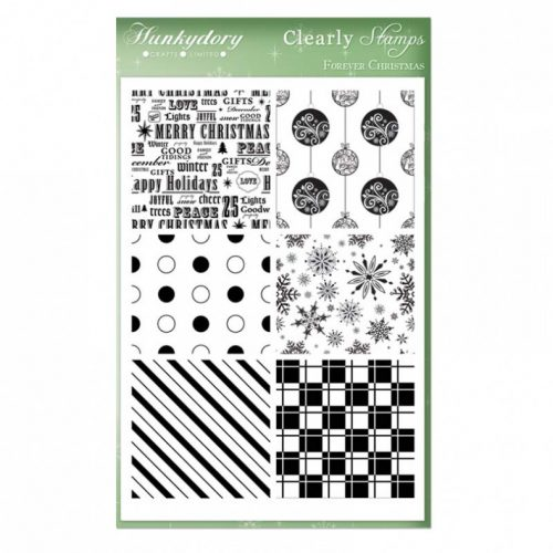 Hunkydory Crafts A5 Clearly Stamps Set Forever Christmas