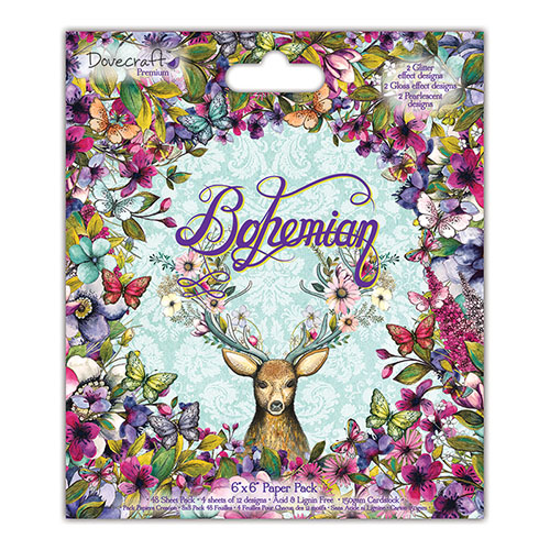 Dovecraft Bohemian 6x6 Paper Pack (FSC) Full Pack 48 Sheets