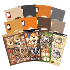 Hunkydory Box-Pops Forest Friends Luxury Card Collection