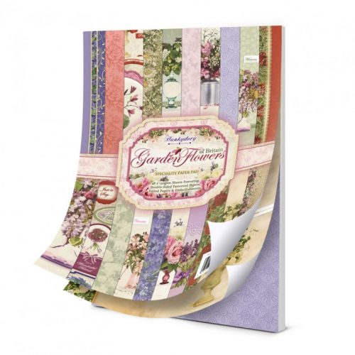 Hunkydory Garden Flowers of Britain A4 Speciality Paper Pad