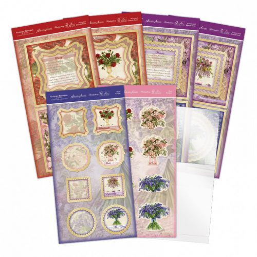 Hunkydory Garden Flowers of Britain Acetate Spinner Card Kit