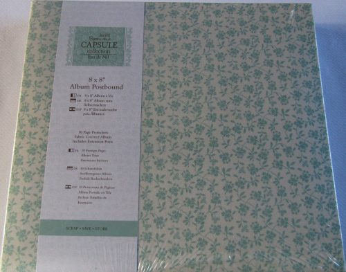 Papermania Capsule Collection Eau De Nil 8x8 Album Postbound