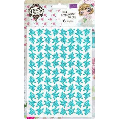 Crafter's Companion Verity Rose 5x7 Embossing Folder - Cupcake