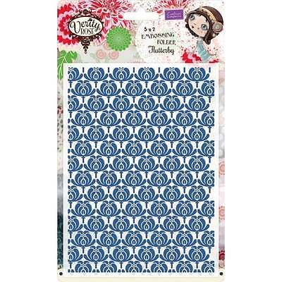 Crafter's Companion Verity Rose 5x7 Embossing Folder - Flutterby