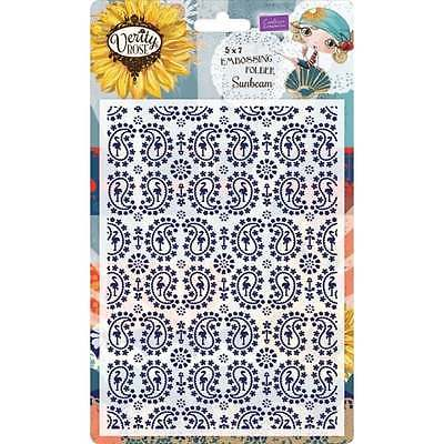 Crafter's Companion Verity Rose 5x7 Embossing Folder - Sunbeam