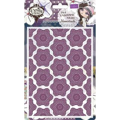Crafter's Companion Verity Rose 5x7 Embossing Folder - Moonstruck
