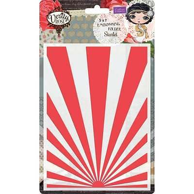 Crafter's Companion Verity Rose 5x7 Embossing Folder - Starlet