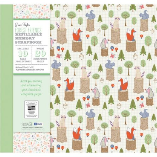 Grace Taylor Scrapbook Album Forest Friends 12 X 12