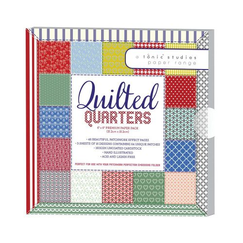 TONIC STUDIOS QUILTED QUARTERS PAPER PACK 6X6