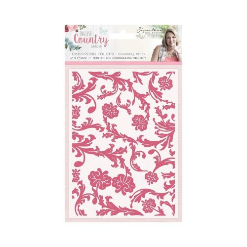 Crafters Companion Sara English Country Garden Embossing Folder Blooming Vines