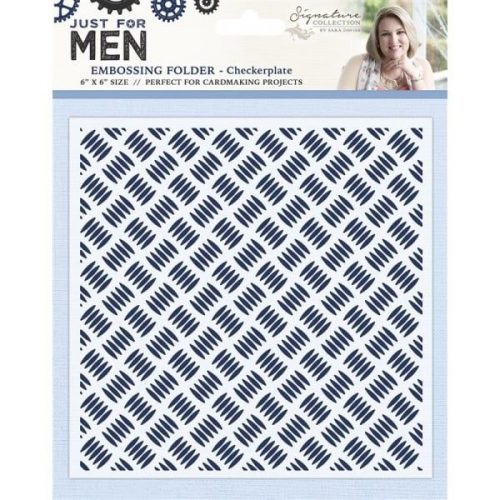 Sara Signature Just For Men Male 6X6 Emossing Folder CheckerPlate