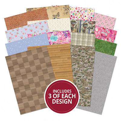 Hunkydory Adorable Scorable Patterns & Textures Card Pack 48 Sheets