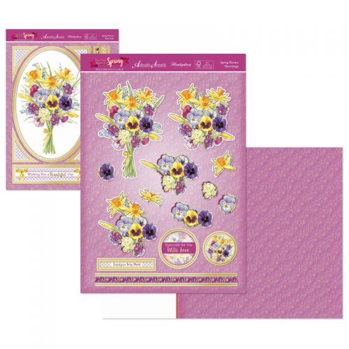 Hunkydory First Signs Of Spring DecoLarge Topper set Spring Flowers