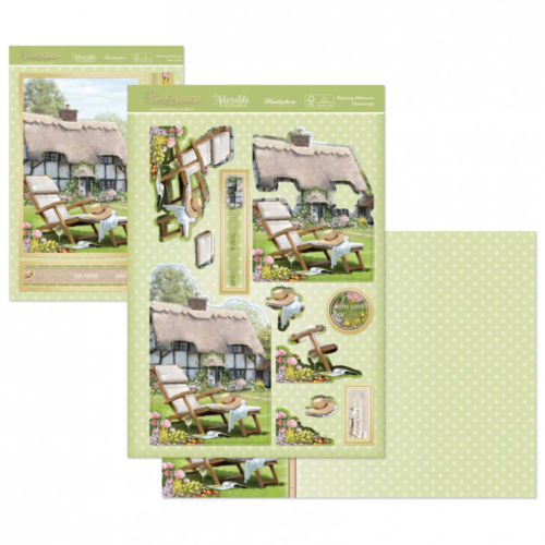 Hunkydory Rustic Charm Deco Topper and Card Set Relaxing Afternoon