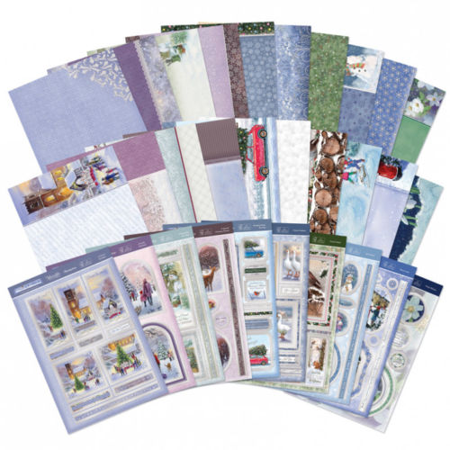 Hunkydory White Christmas Luxury Topper Collection 30 Sheets In Total