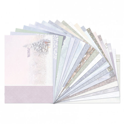 Hunkydory White Christmas Luxury Inserts 20 Sheets New For 2017