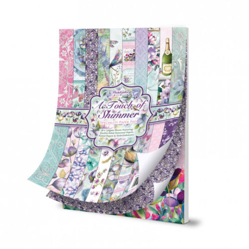 Hunkydory A Touch Of Shimmer A4 Speciality Paper Pad 48 Sheets