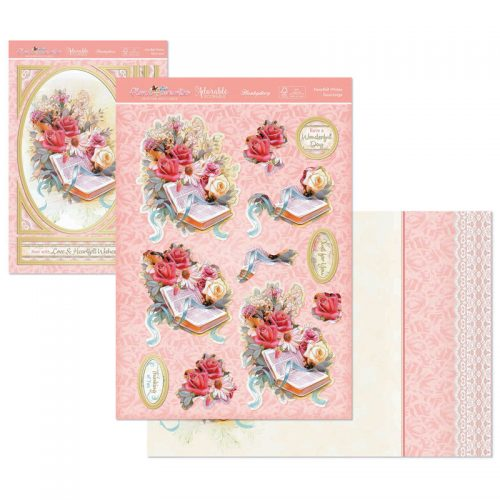 Hunkydory Floral Favourites Designer Deco Large Set Heartfelt Wishes
